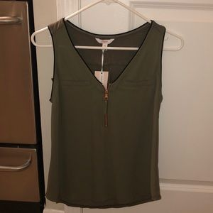 Candie's brand olive tank top.
